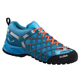 Salewa Wildfire Vent Approach Shoes Women river blue/clementine